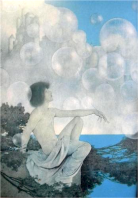 Air Castles by Maxfield Parrish.