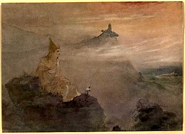 Asoka, who by the white stucco of his fame made spotless the universe.  Abanindranath Tagore. © This artwork may be protected by copyright. It is posted on the site in accordance with fair use principles.