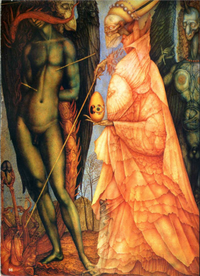 Battle of the Gods that Have Been Transformed by Ernst Fuchs (1952).