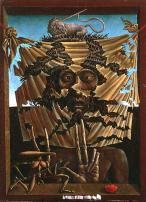 Behind of Veronica's Veil by Ernst Fuchs (1953).