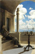 The Cardinal Archbishop Sat on His Shaded Porch by Maxfield Parrish (1901).