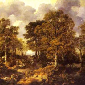 Forest (Cornard Wood) by Thomas Gainsborough (c. 1747).