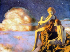 Contentment by Maxfield Parrish (1927).