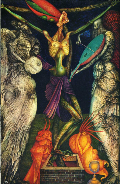 Crucification by Ernst Fuchs (1950).