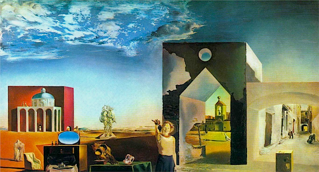 Suburbs of a Paranoiac Critical Town,  Afternoon on the Outskirts of European History  by Salvador Dali (1936).  © This artwork may be protected by copyright.  It is posted on the site in accordance with fair use principles.