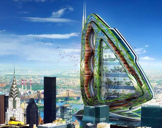 The Dragonfly: A Giant Winged Vertical Farm for New York City | Inhabitat - Sustainable Design Innovation, Eco Architecture, Green Building