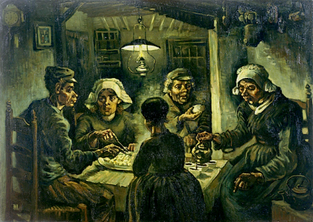 The Potato Eaters by Vincent Van Gogh.This work is in the Public Domain. Van Gogh Museum, http://www.vangoghmuseum.nl