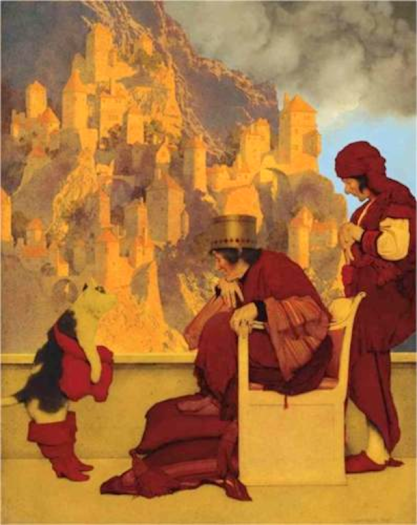 Puss in Boots by Maxfield Parrish (1913).
