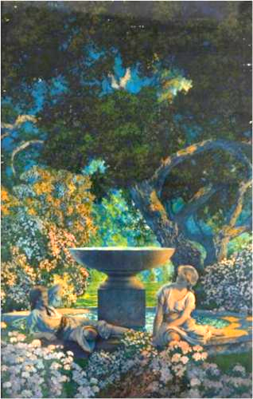 Reveries by Maxfield Parrish (1926).