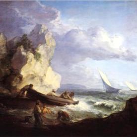 Seashore with Fishermen by Thomas Gainsborough (c. 1782).