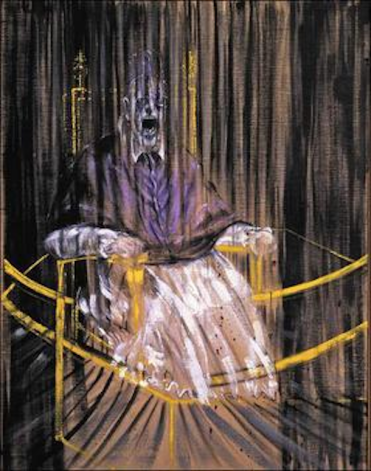 Study after Velazquez's Portrait of Pope Innocent X by Francis Bacon.