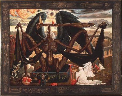 The Angel of Death Over the Gate of Purgatory by Ernst Fuchs (1956).