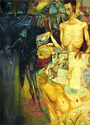 Transformations of Flesh by Ernst Fuchs (1949).