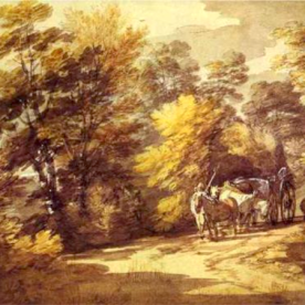Wooded Landscape with a Waggon in the Shade by Thomas Gainsborough (c. 1765).