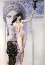 Allegory of Sculpture by Gustav Klimt (1889).