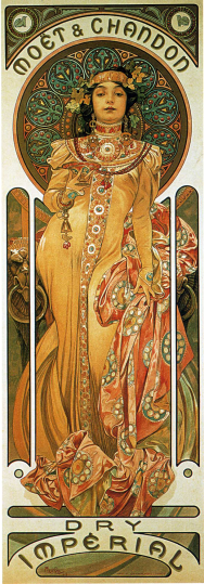 Chandon Cremant Imperial by Alphonse Mucha (1899).