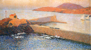 Collioure la Chapelle sur la Digue by Henri Martin.