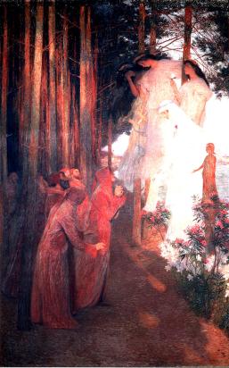 Le Apparition de Clemence Isaure aux Troubadours by Henri Martin.
