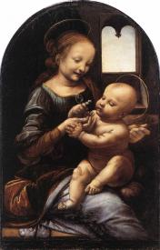 Madonna with a Flower, Leondardo Davinci (c. 1478)