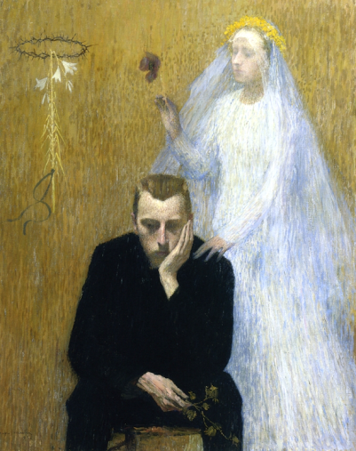 Mystic Scene by Henri Martin (1895).