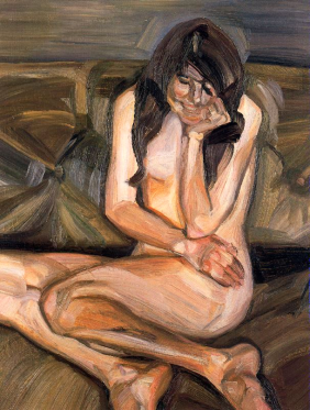 Naked Child Laughing by Lucian Freud (1963).