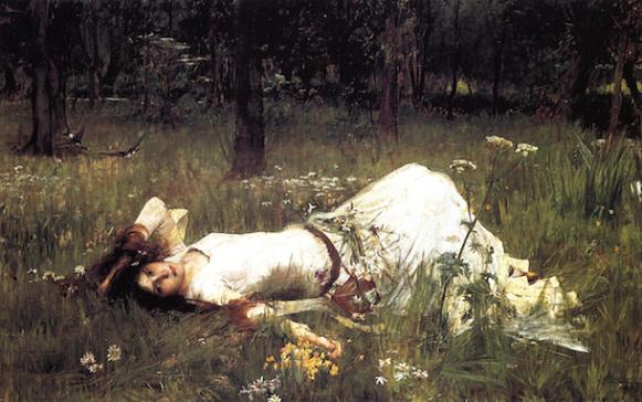 Ophelia by John William Waterhouse (1889).