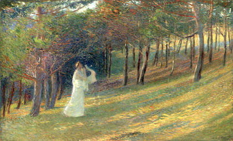 Orpheus in a Wood by Henri Martin (1895).