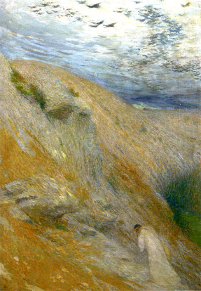 Orpheus Returns from the Pursuit of Eurydice by Henri Martin (1895).