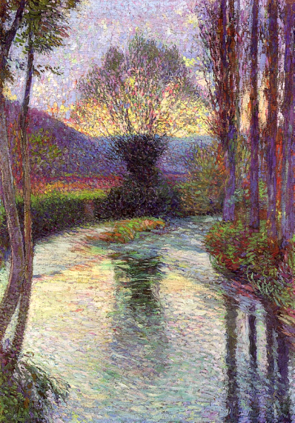 Reflected Willow on the Green by Henri Martin (1915).