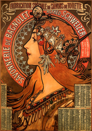 Soap Factory of Bagnolet by Alphonse Mucha (1897).