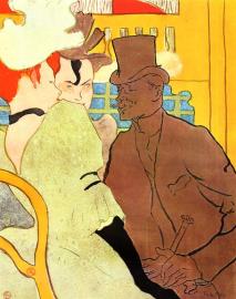 The Englishman at the Moulin Rouge by Henri de Toulouse Lautrec (1892).