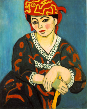 The Red Madras Headdress by Henri Matisse (1907).