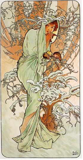 Winter by Alphonse Mucha (1896).