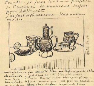 Still Life with Coffee Pot, #1, by Vincent van Gogh.