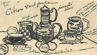 Still Life with Coffee Pot, #2, by Vincent van Gogh.