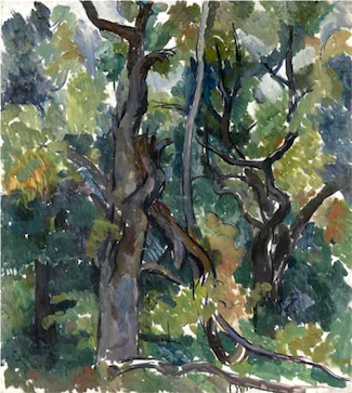 Oak Trees by Pyotr Konchalovsky (1921).