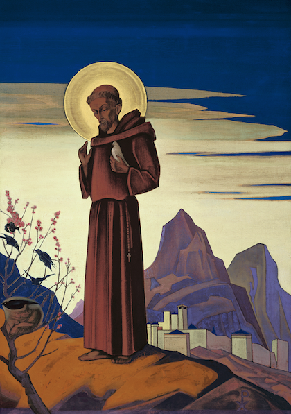 St. Francis by Nicholas Roerich (1931).