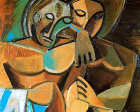 Detail of Friendship by Pablo PIcasoo (1908). ©This artwork may be protected by copyright. It is posted on the site in accordance with fair use principles.