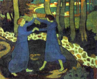 Detail from Jacob's Battle with the Angel by Maurice Denis (1893). ©This artwork is in the public domain.