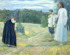 The Wayfarer by Mikhail Nesterov (1921). © This artwork is in the public domain.