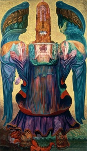 """""""The Angel of History"""" by Ernst Fuchs (1992)"""