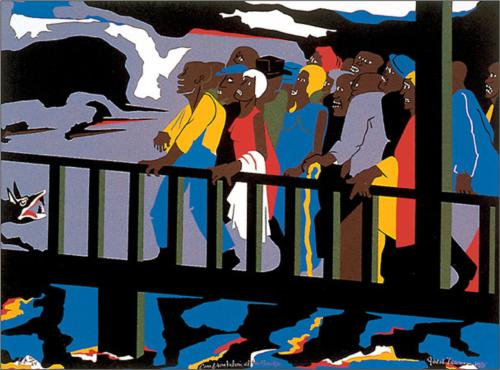 Confrontations at the Bridge by Jacob Lawrence (1975)