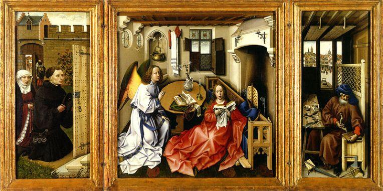 Annunciation, Robert Campin