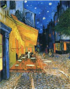 Cafe Terrace, Place du Forum, Arles by Vincent Van Gogh