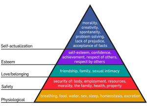 Maslow's hierarchy, as depicted by Factoryjoe.