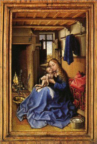 Virgin and Child in an Interior Room, Robert Campin