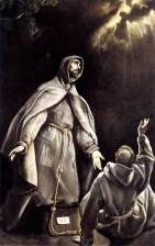 St. Francis' Vision of the Flaming Torch by El Greco.