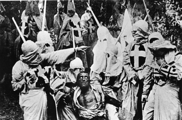 Scenes from Griffith's epic revisionist history. How could anything that portrays the Klan as noble not be a betrayal of history and truth?