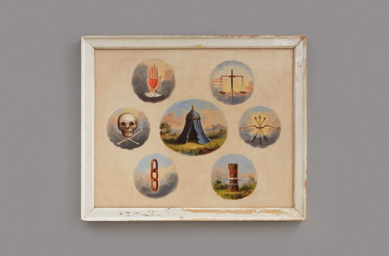 INDEPENDENT ORDER OF ODD FELLOWS TRACING BOARD. ARTIST UNIDENTIFIED.