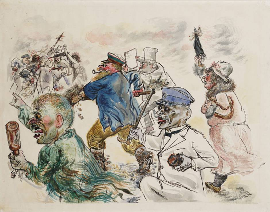 """""""One Lie is Sufficient"""" (c. 1930) by George Grosz"""